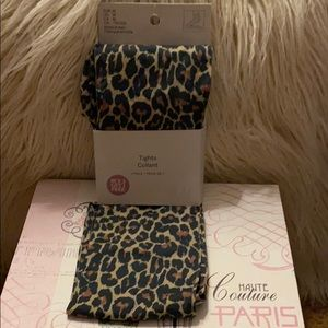 H&M woman's leopard tights. New in package